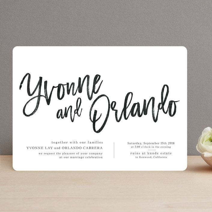 """""""blithe"""" - Modern, Simple Wedding Invitations in Charcoal by Design Lotus."""