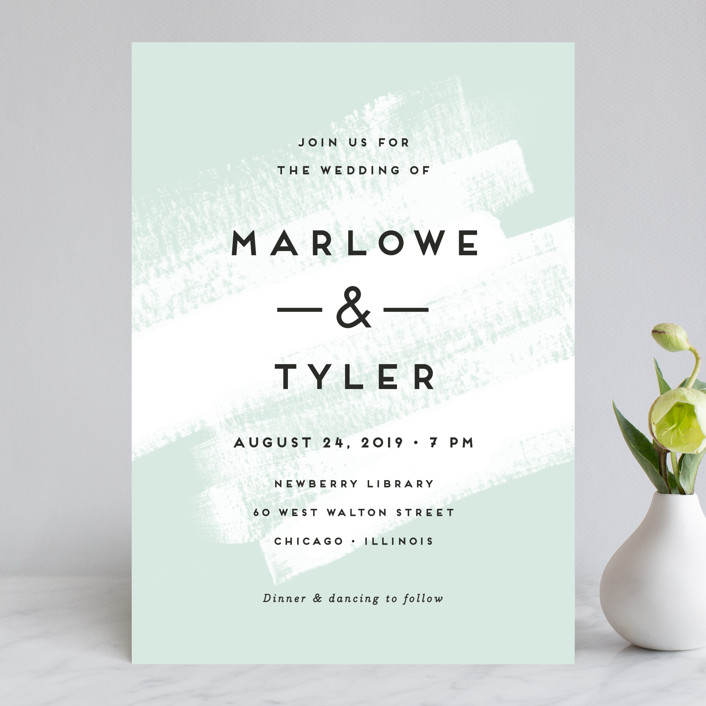 """""""Museum quality"""" - Wedding Invitations in Teal by Jennifer Wick."""