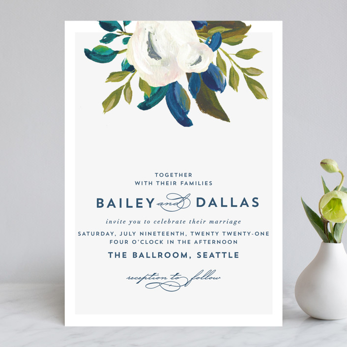Our Something Blue Wedding Invitations by AK Graphics Minted