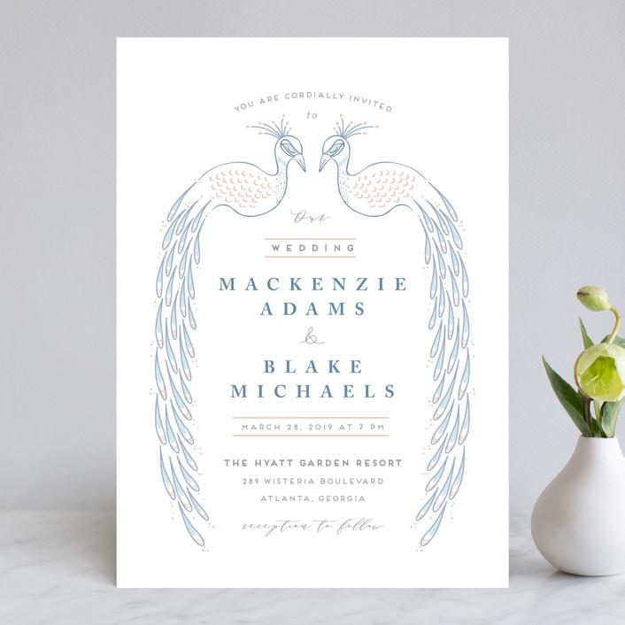 """cicogne"" - Wedding Invitations in Cornflower by chocomocacino."