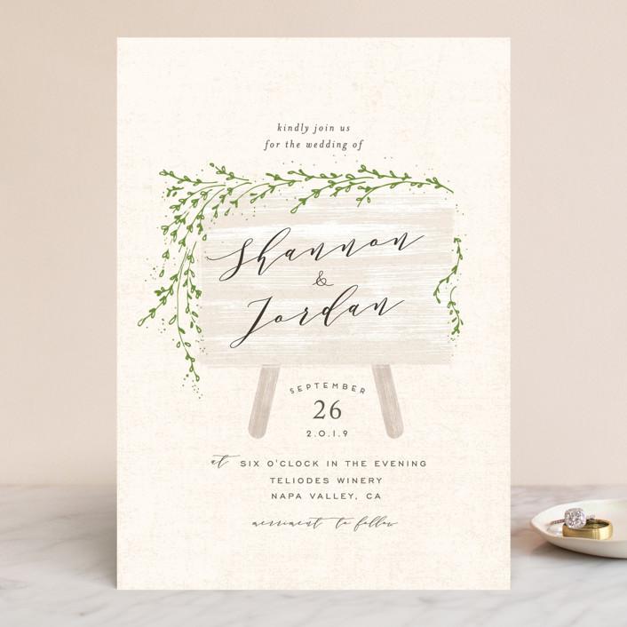 """winona"" - Wedding Invitations in Cream by chocomocacino."