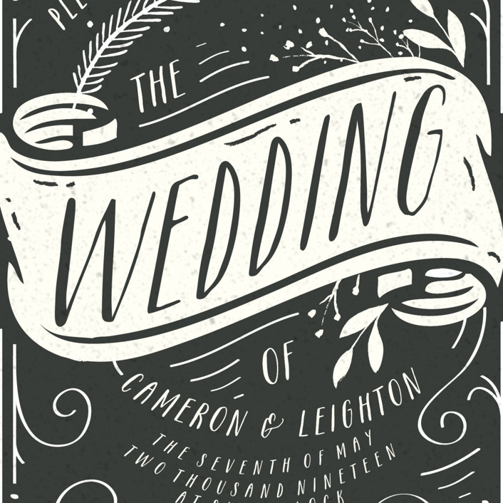 vintage banner wedding invitations by hannah williams minted