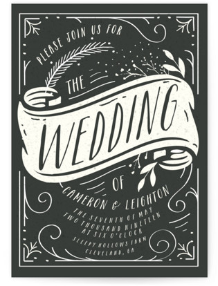 photo of Vintage Banner Wedding Invitations