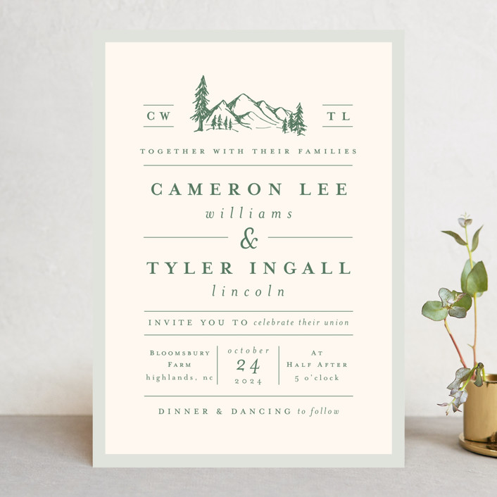 Blue Ridge Wedding Invitations by Amy Kross | Minted