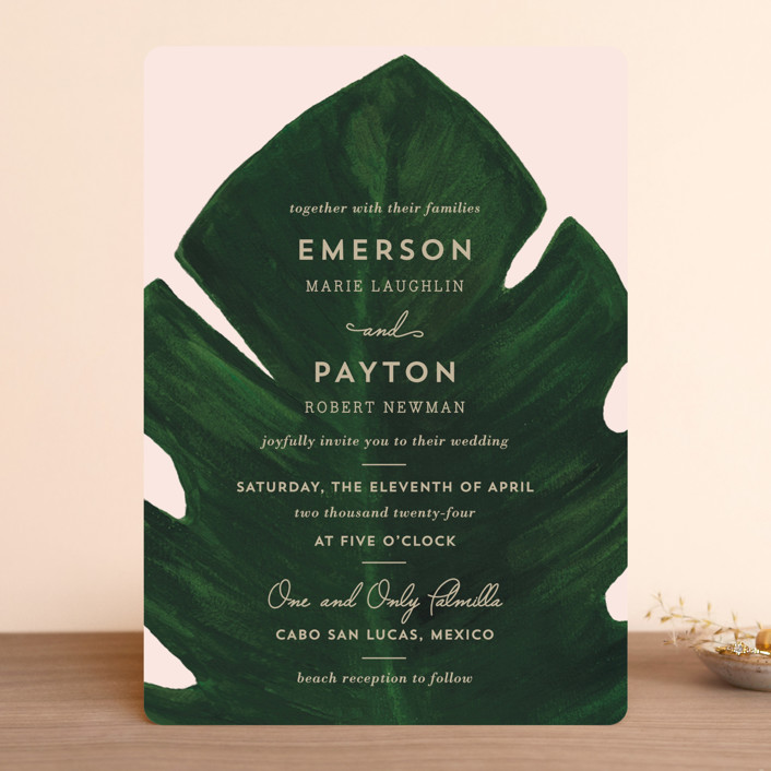 """Palm"" - Wedding Invitations in Classic Palm by Kaydi Bishop."