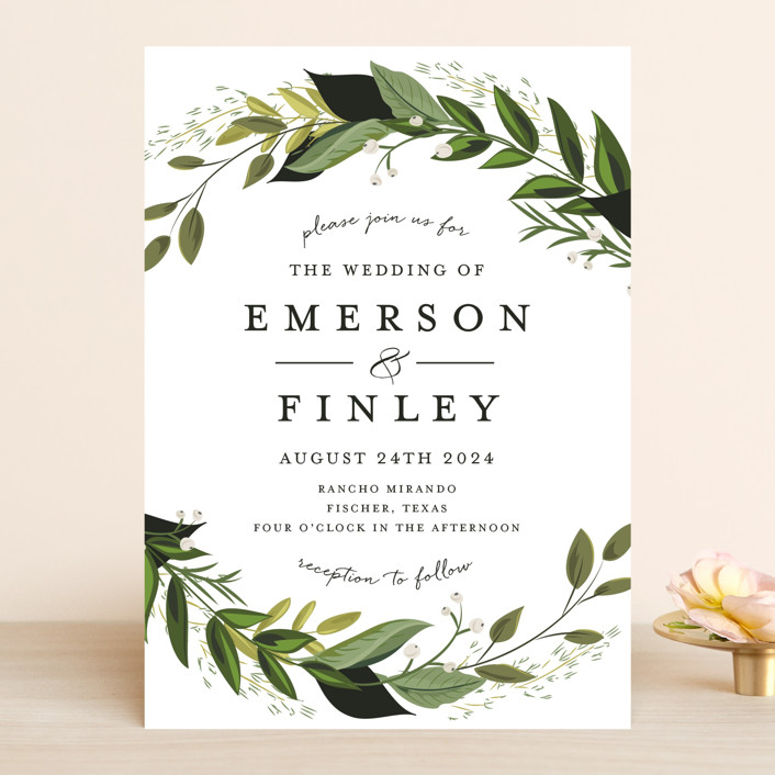 """Vines of Green"" - Wedding Invitations in Fern by Susan Moyal."