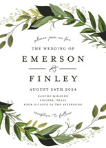 Vines of Green Wedding Invitations By Susan Moyal
