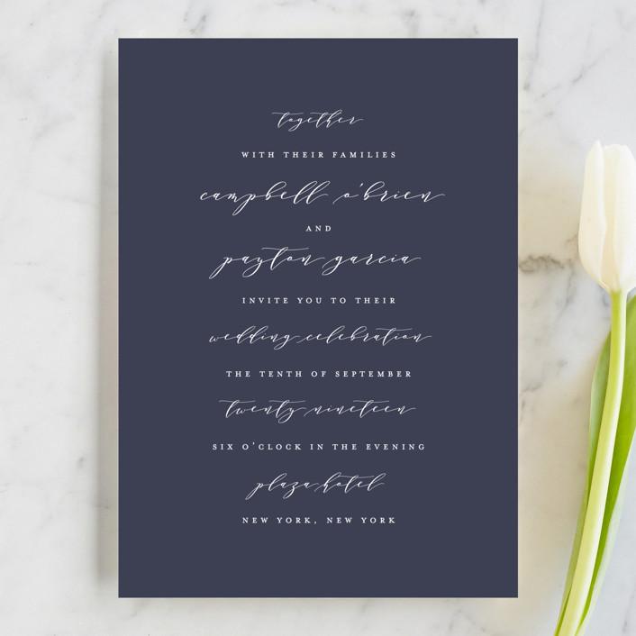 """Sway"" - Wedding Invitations in Denim by Lauren Chism."