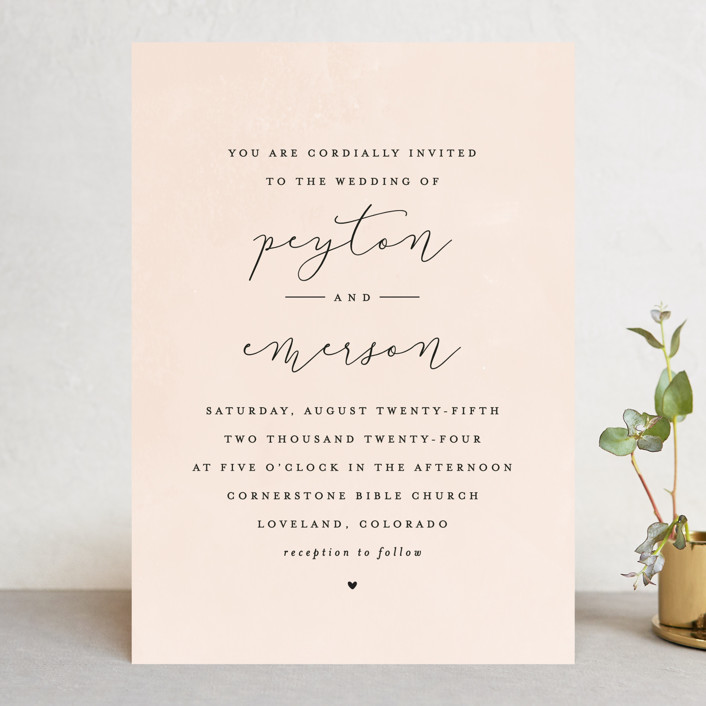 simply perfect wedding invitations by peony papeterie minted