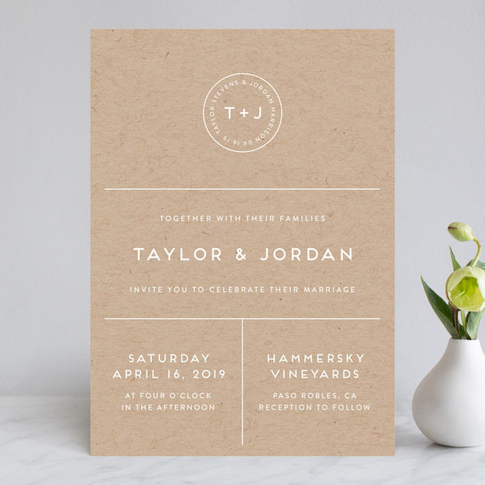 """Modern Stamp"" - Wedding Invitations in Kraft by seulghi."