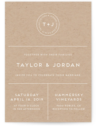 Modern Stamp Wedding Invitations
