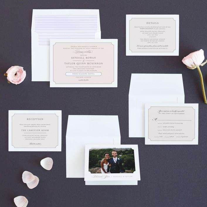Subtly Sweet Wedding Invitations by Kimberly FitzSimons | Minted