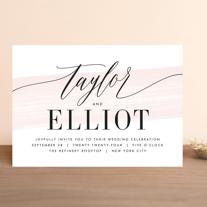 """Effervescent"" - Wedding Invitations in Blush by Kristie Kern."
