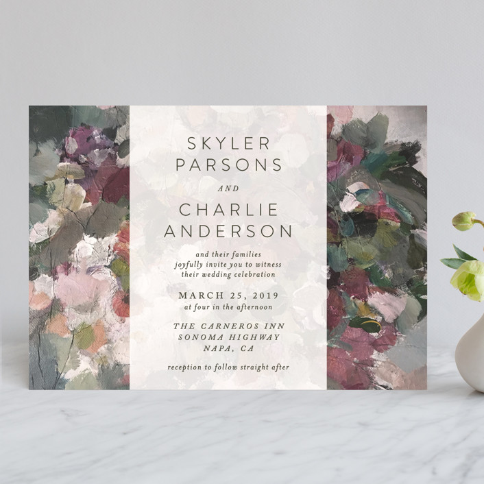 """Gardener's Palette"" - Wedding Invitations in Garden by Phrosne Ras."