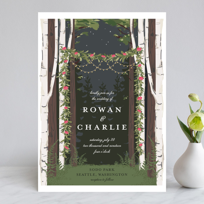Enchanted Forest Wedding Invitations by Susan Moyal Minted