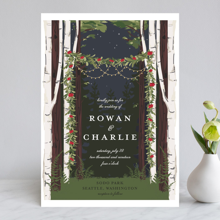 Forest Themed Wedding Invitations: Enchanted Forest Wedding Invitations By Susan Moyal