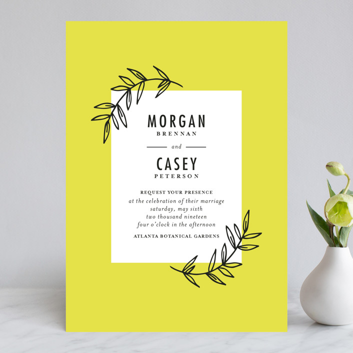 """minimally chic"" - Wedding Invitations in Lemon by lena barakat."