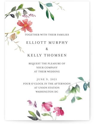 Spring Wildflowers Wedding Invitations