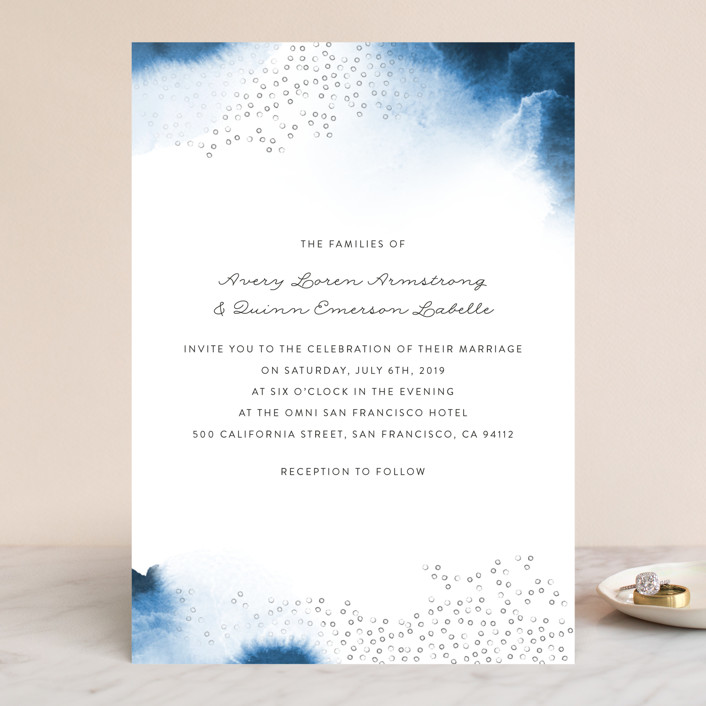 """Watercolor Dots"" - Wedding Invitations in Agate by Maria Hilas Louie."