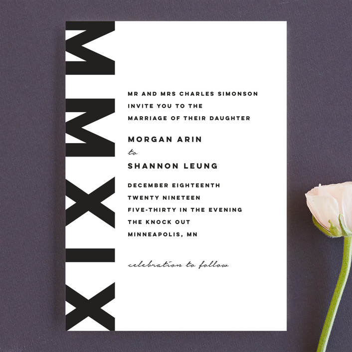 """Timepiece"" - Wedding Invitations in Tuxedo by Susan Brown."