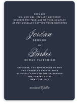 This is a blue wedding invitation by Kimberly FitzSimons called Flawless with standard printing on signature in standard.