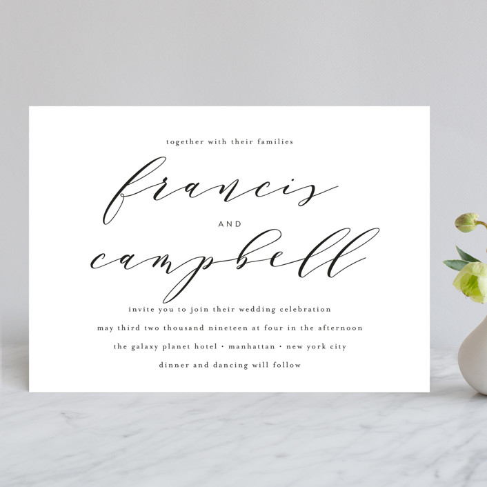 simple elegance wedding invitations in tuxedo by phrosne - Simple Elegant Wedding Invitations