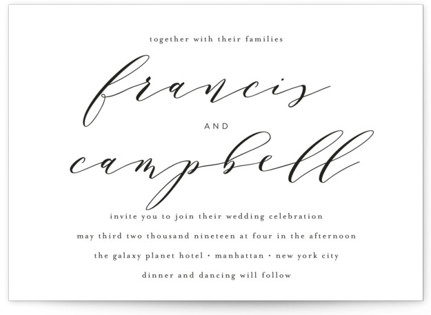 photo of Simple Elegance Wedding Invitations