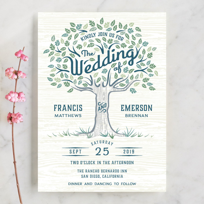 Under the Tree Wedding Invitations by Paper Sun Studio | Minted