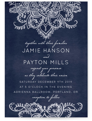 Indigo Lace Wedding Invitations