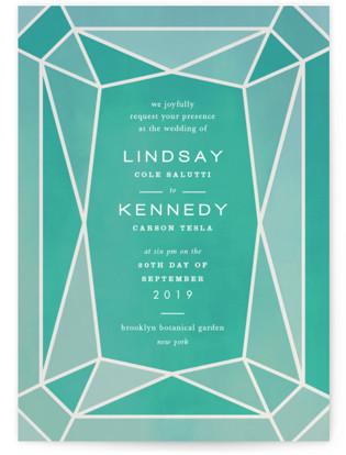 Radiant Cut Wedding Invitations