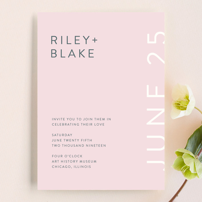 Minimal Modern Wedding Invitations by Nikkol Christiansen Minted