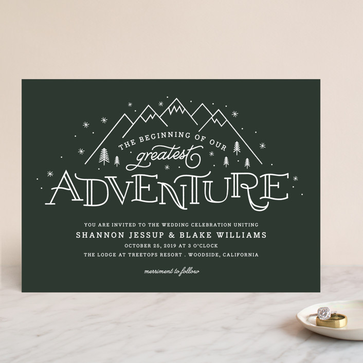 """""""Adventurous"""" - Wedding Invitations in Forest by Sarah Brown."""