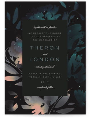 Midnight Garden Wedding Invitations