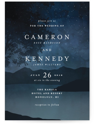 photo of Coastal Nights Wedding Invitations