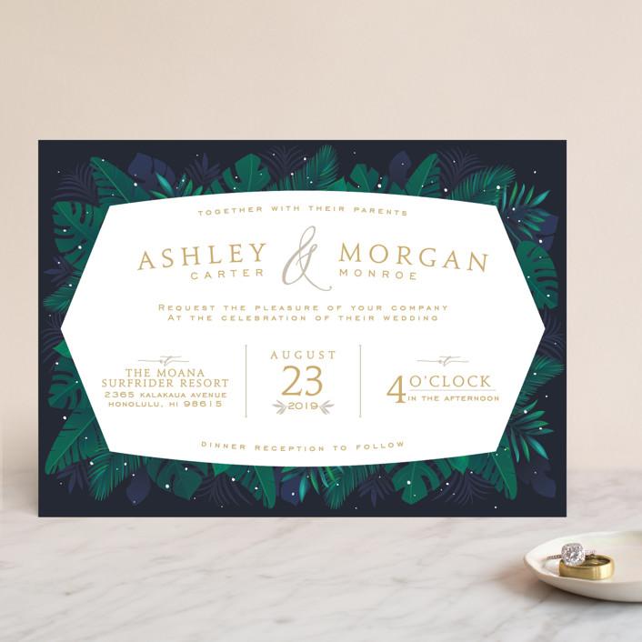 Paradise Wedding Invitations By GeekInk Design