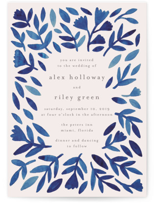 Wildflower Floral Wedding Invitations