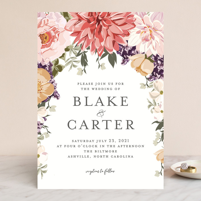 Garden Wedding Wedding Invitations by Susan Moyal | Minted