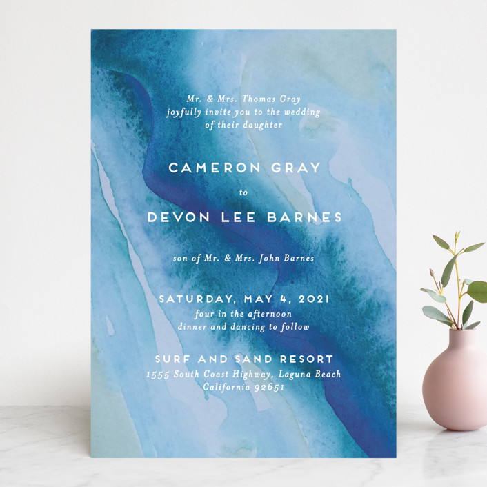 Tide pools wedding invitations by krissy bengtson minted tide pools modern wedding invitations in sea by krissy bengtson stopboris Images