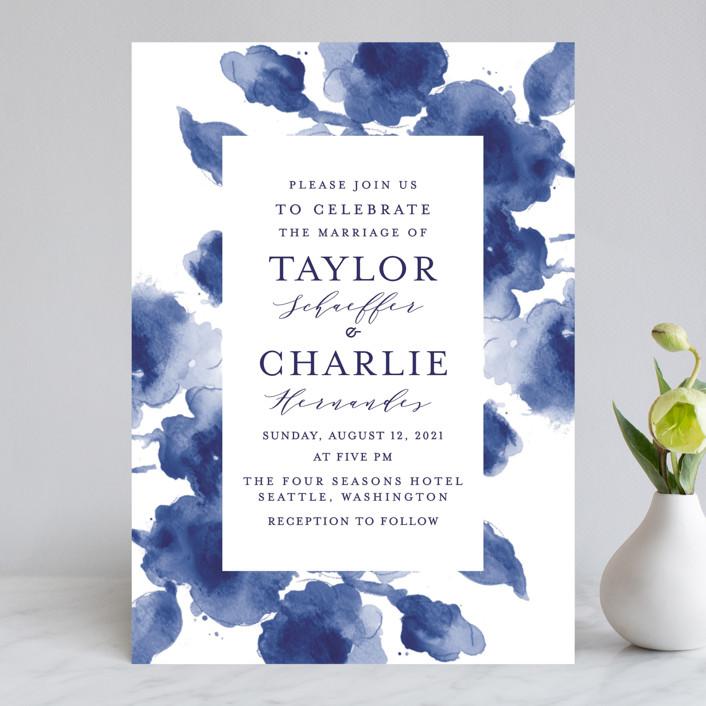 cornflower wedding wedding invitations by chris griffith minted