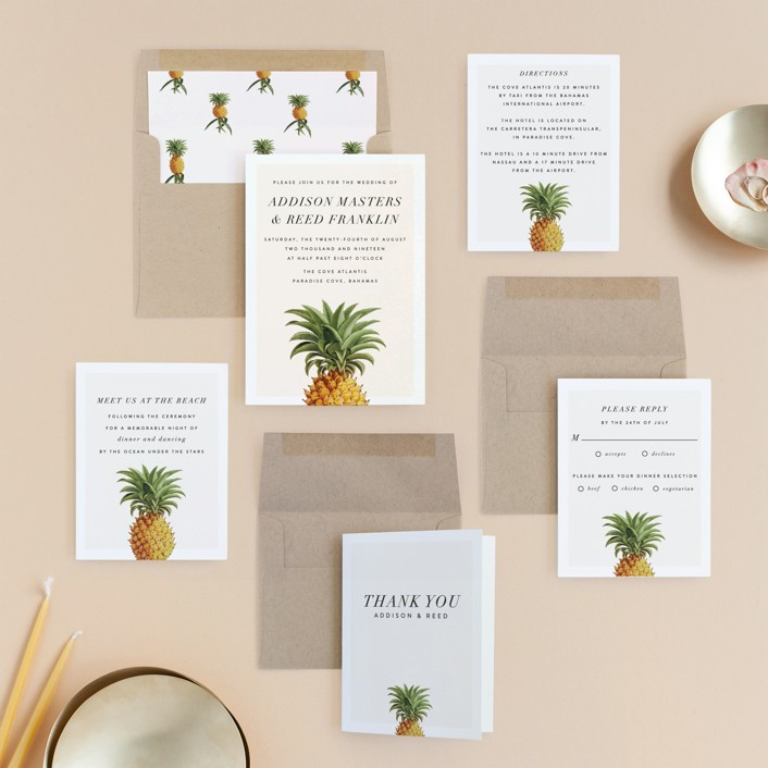 Party In Paradise Wedding Invitations By Fig And Cotton