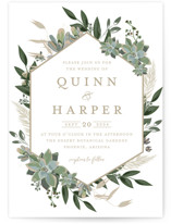 This is a white wedding invitation by Susan Moyal called Succulent Surround with standard printing on signature in standard.