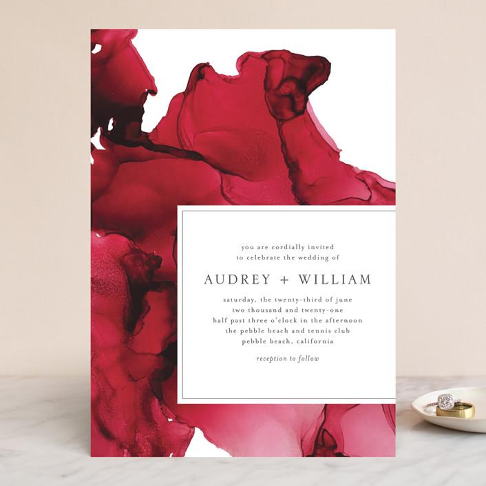 """blue tides"" - Wedding Invitations in Sea Blue by Erin Deegan."