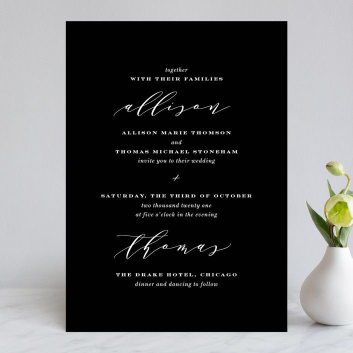 """""""Perspective"""" - Wedding Invitations in Noir by Kimberly FitzSimons."""