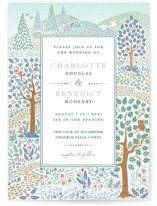 This is a colorful wedding invitation by Paper Sun Studio called Woodland Garden with standard printing on signature in standard.