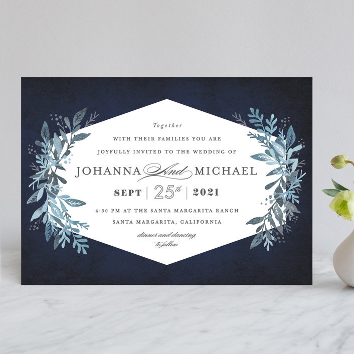 """Tailored Branches"" - Wedding Invitations in Atlantic by Karidy Walker."