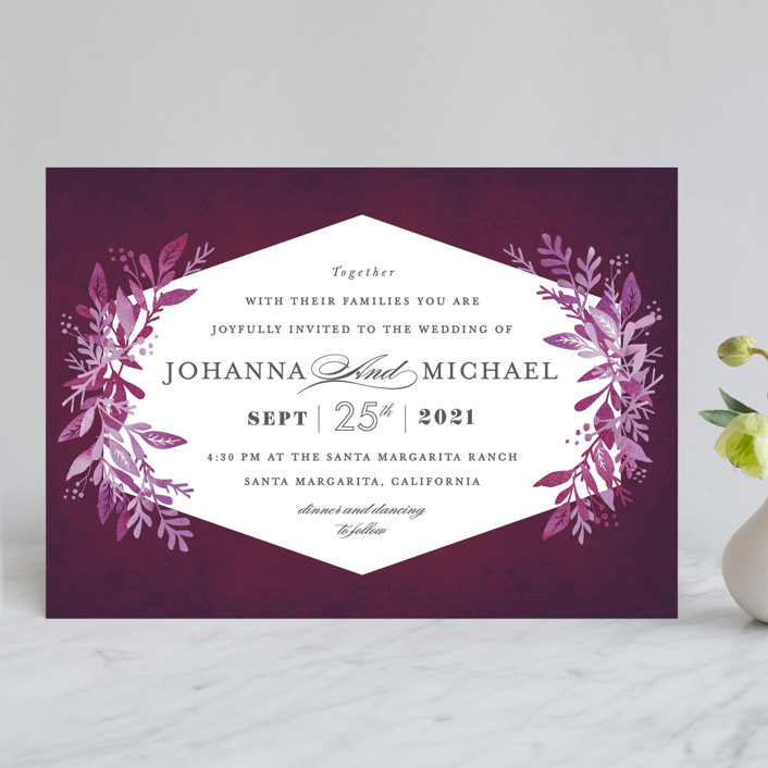 """""""Tailored Branches"""" - Wedding Invitations in Atlantic by Karidy Walker."""
