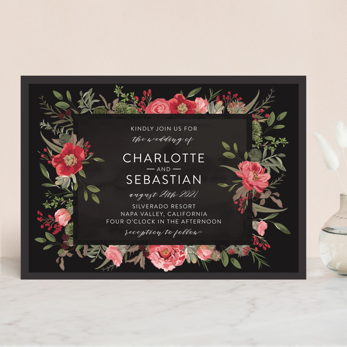 """Desert Blooms"" - Wedding Invitations in Blush by Susan Moyal."