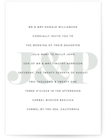 This is a grey wedding invitation by Erin Deegan called His and Hers with standard printing on signature in standard.