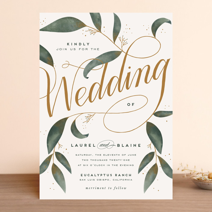 """Love Grows"" - Wedding Invitations in Leaf by Leah Bisch."
