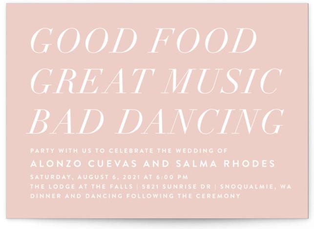 Bad Dancing Wedding Invitations